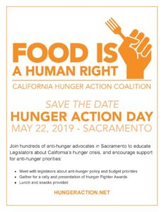 Hunger Action Day @ California State Capitol