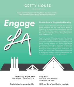 Engage LA - Innovations in Supportive Housing @ Getty House